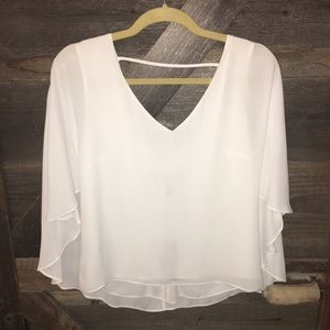 BCBG Maxazria angel wing top